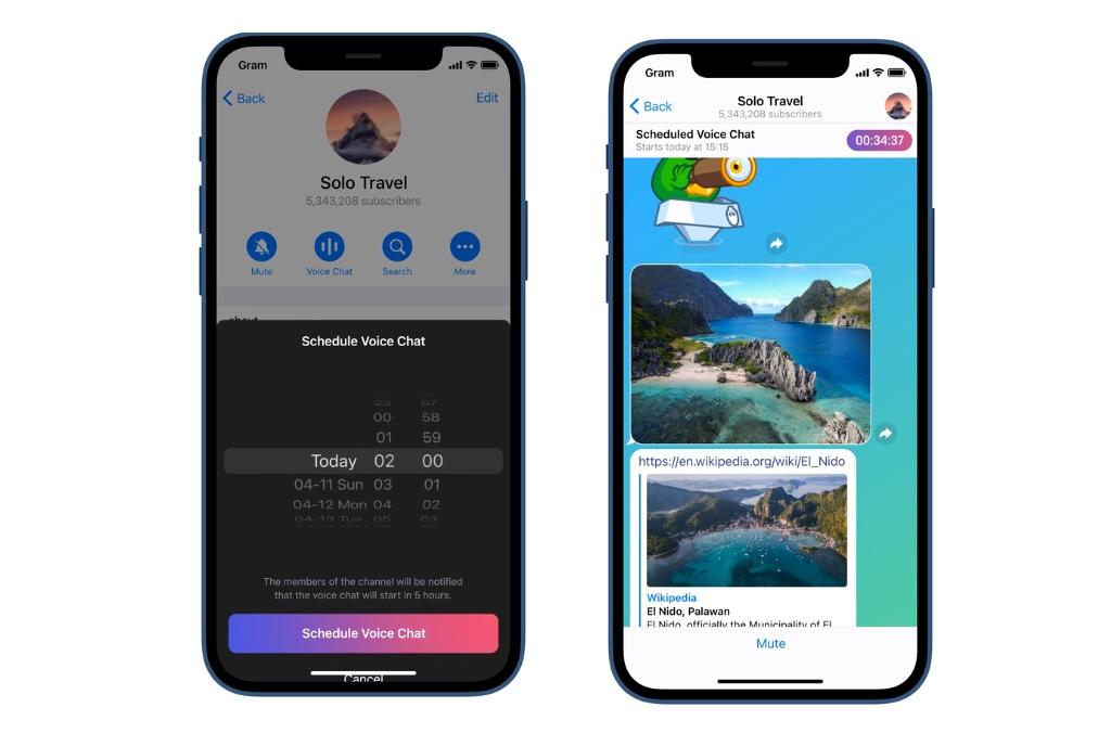 زمانبندی پیام های صوتی تلگرام