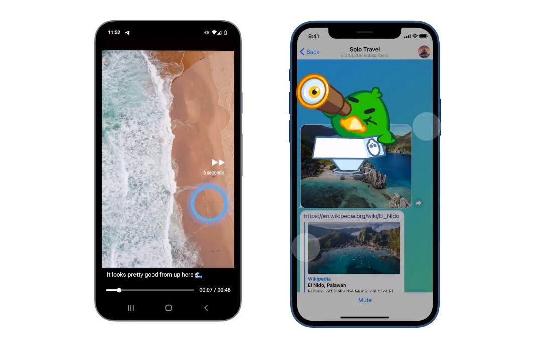 بهبود پخش ویدئو در تلگرام