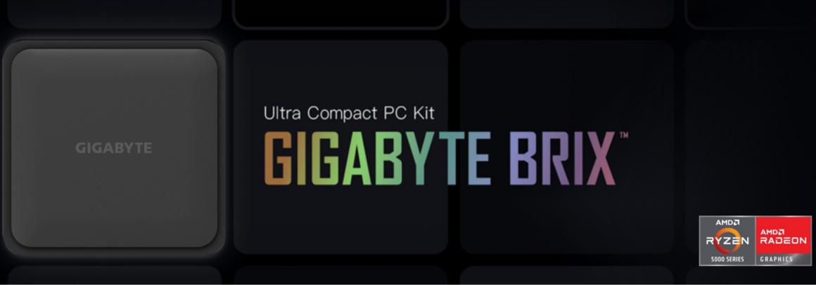 کامپیوترهای BRIX 2021 گیگابایت با Ryzen 5000U