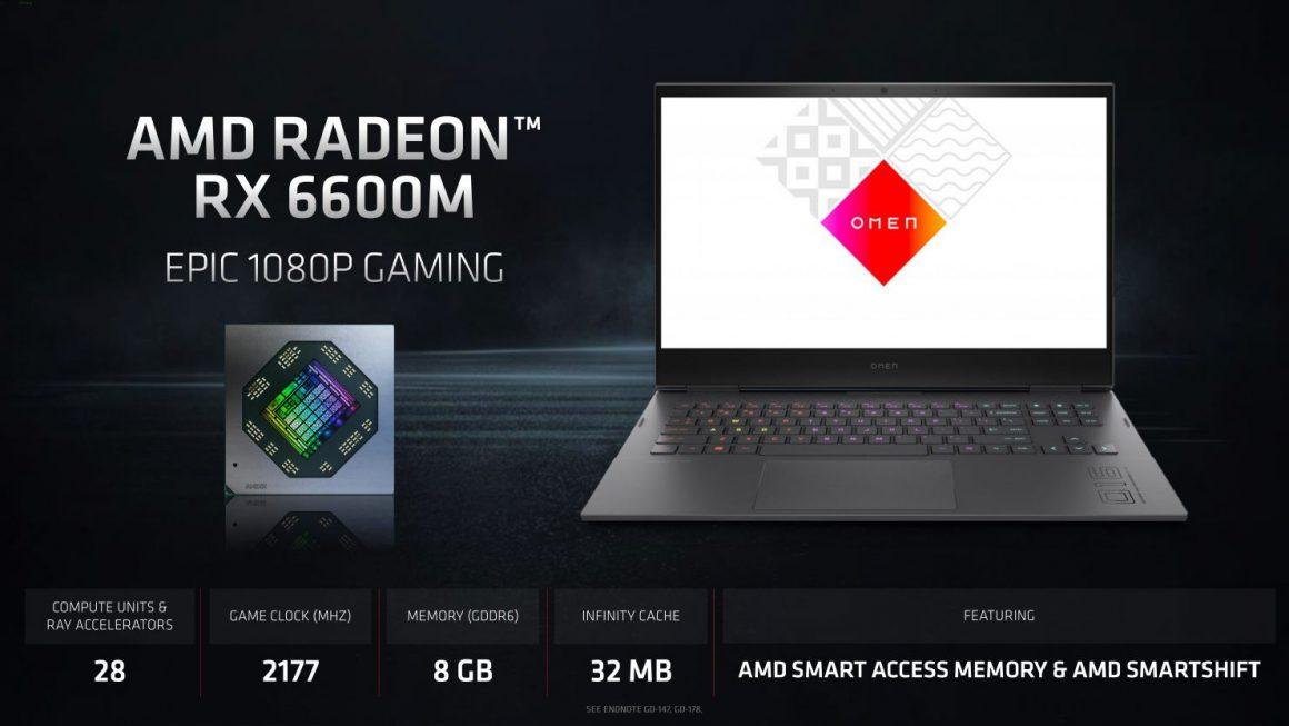 گرافیک نوت بوک Radeon RX 6600M