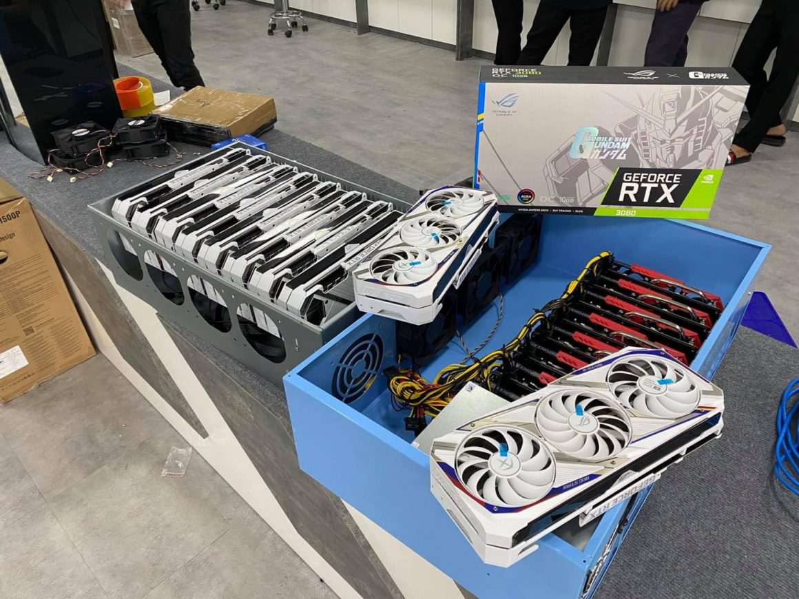 فروش کارت گرافیک های RTX 3080 GUNDAM غیر LHR ایسوس به ماینرها در ویتنام