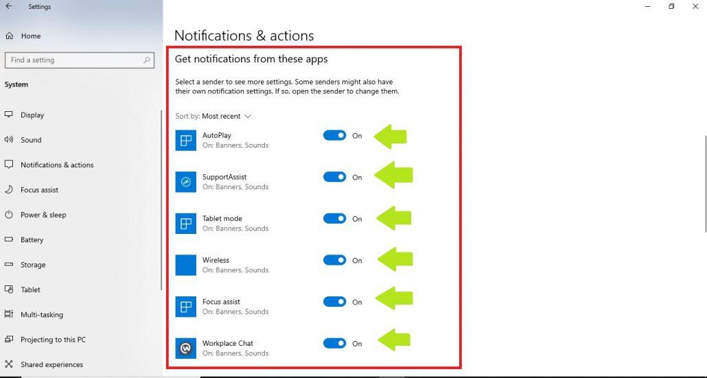 نحوه شخصی سازی Action Center در ویندوز 10 - مرحله 5