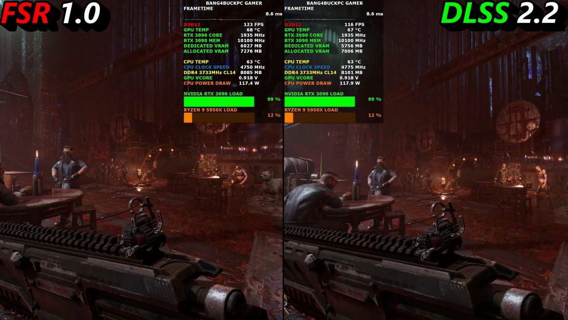مقایسه AMD FSR و DLSS انویدیا در بازی Necromunda Hired Gun