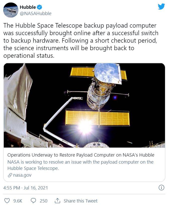 آخرین تلاش ناسا برای تعمیر تلسکوپ فضایی هابل ۱
