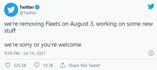 حذف قابلیت Fleets توییتر – اقرار به شکست مدیران این شرکت ۲
